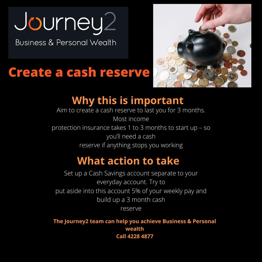 Create a Cash Reserve