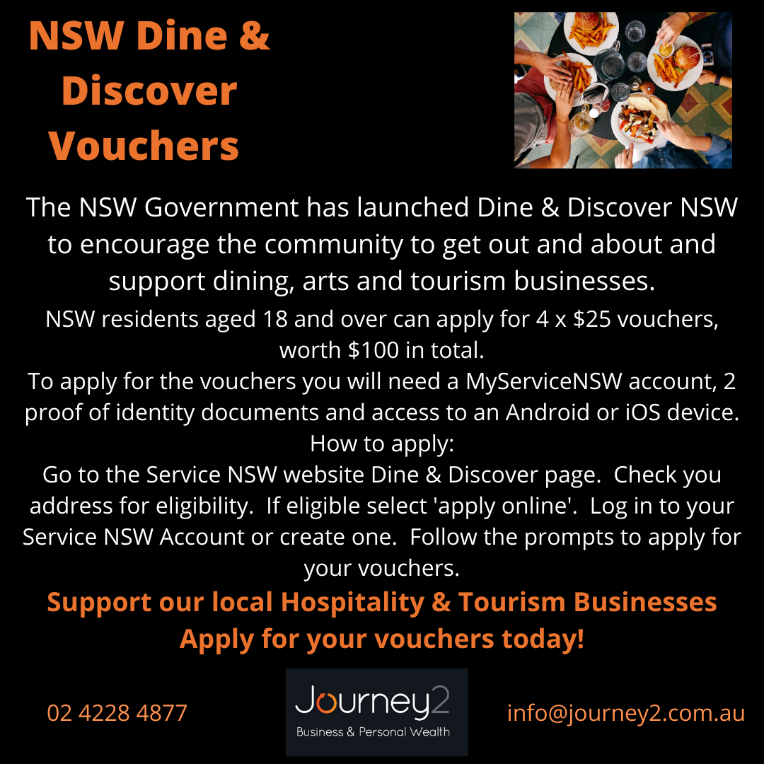 NSW Dine & Discover Vouchers