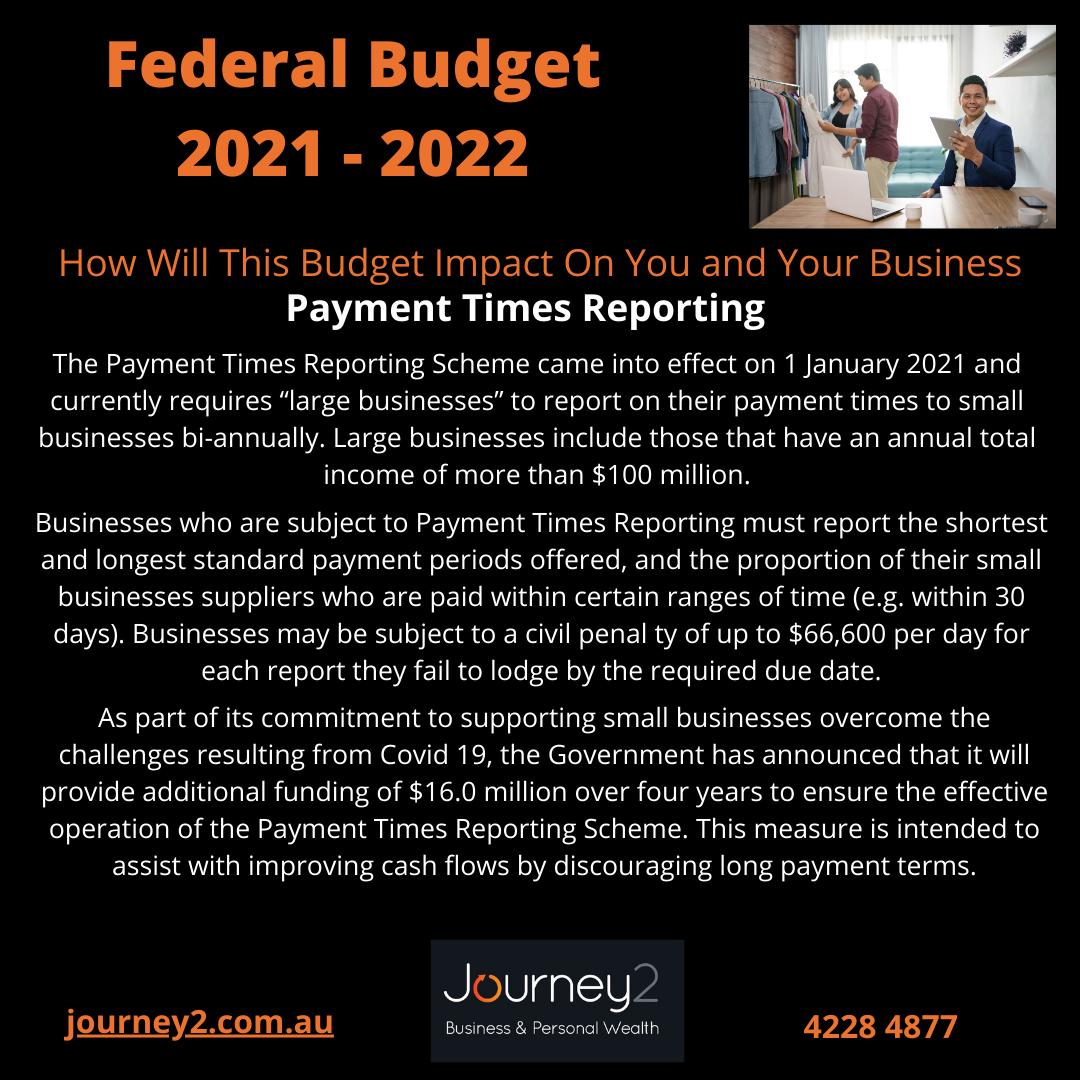 Federal Budget 2021 – 2022