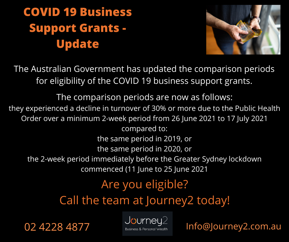 COVID 19 Business Support Grants – Update